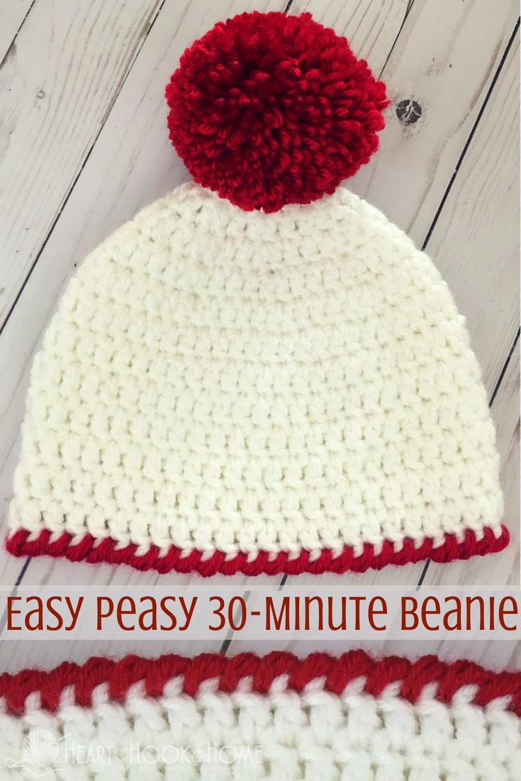 Crochet Beanies For Men Easy Peasy 30 Minute Beanie Free Crochet Pattern