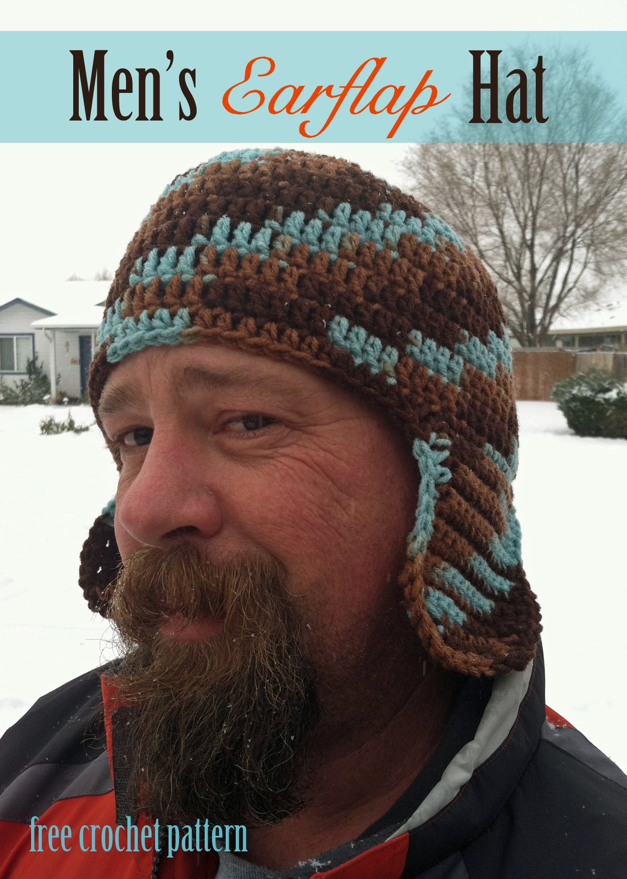 Crochet Beanies For Men Free Crochet Pattern Mens Earflap Hat
