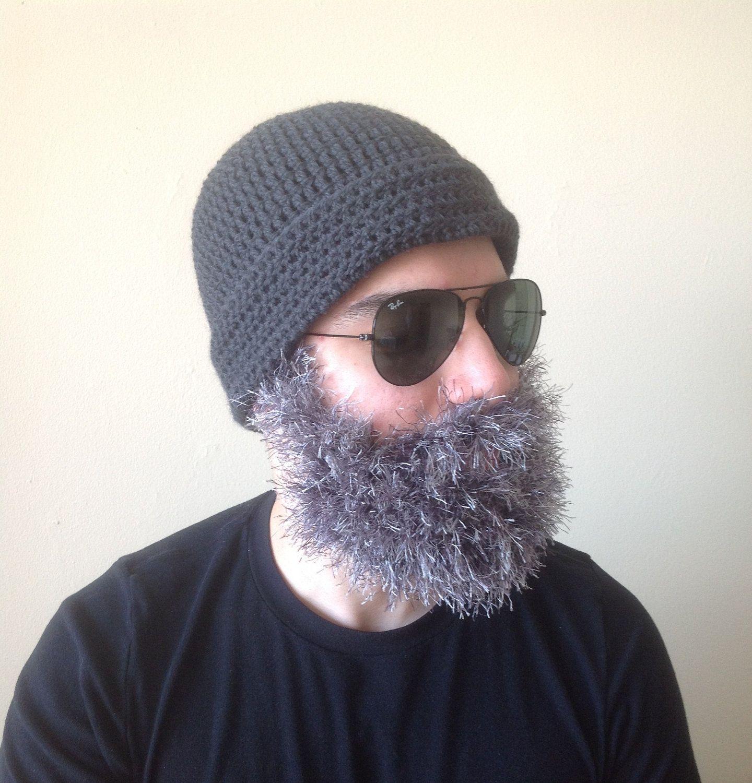 Crochet Beanies For Men Handmade Crochet Santa Claus Beard Hat Pattern Toturial Pdf File