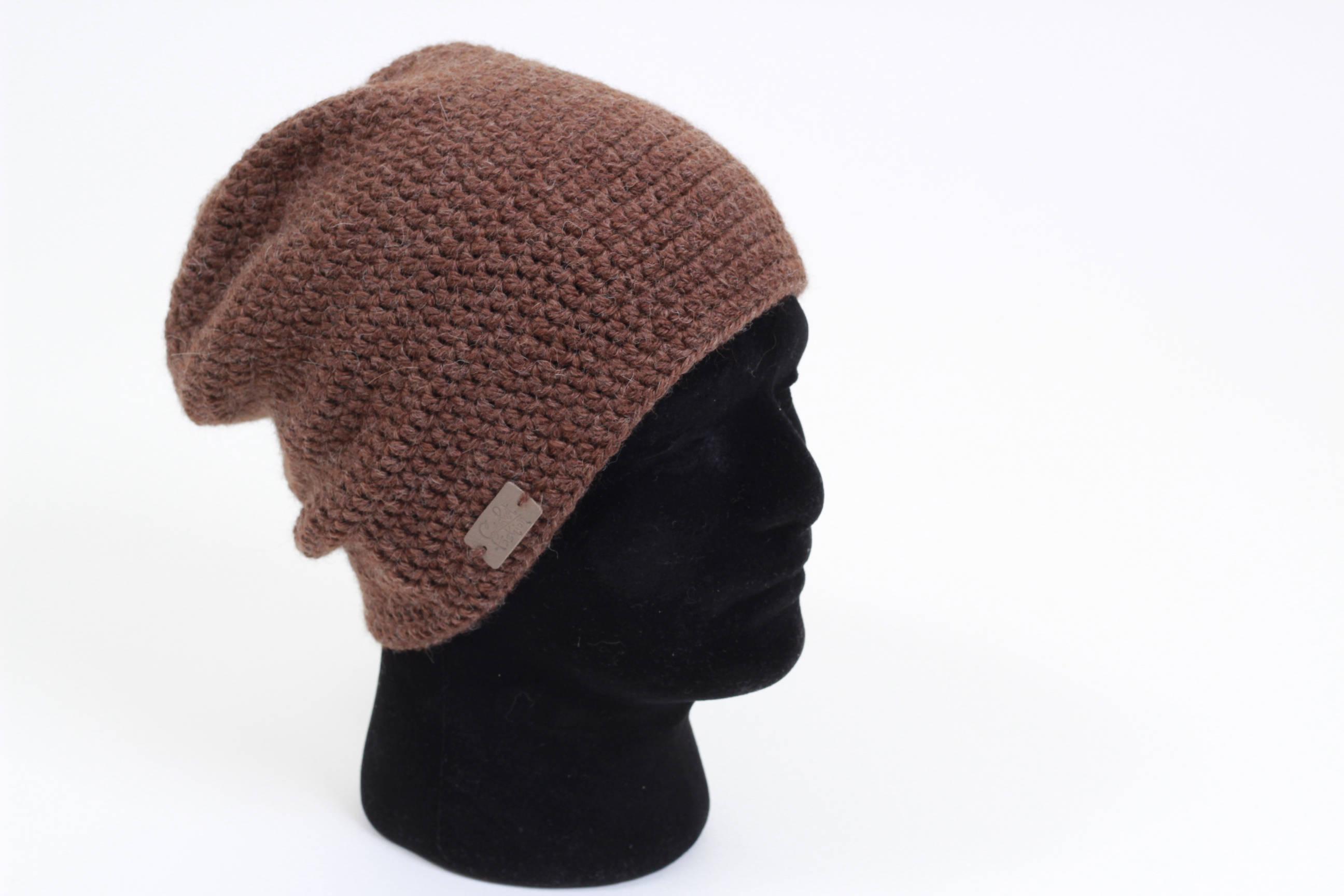 Crochet Beanies For Men Men Slouchy Beanie Crochet Beanie For Men Brown Hat For Men Etsy