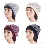 Crochet Beanies For Men Outdoor Crochet Beanies For Men And Women Skull Caps Double Colors