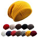 Crochet Beanies For Men Warm Women Winter Caps Soft Wool Knitted Hat Oversized Slouchy