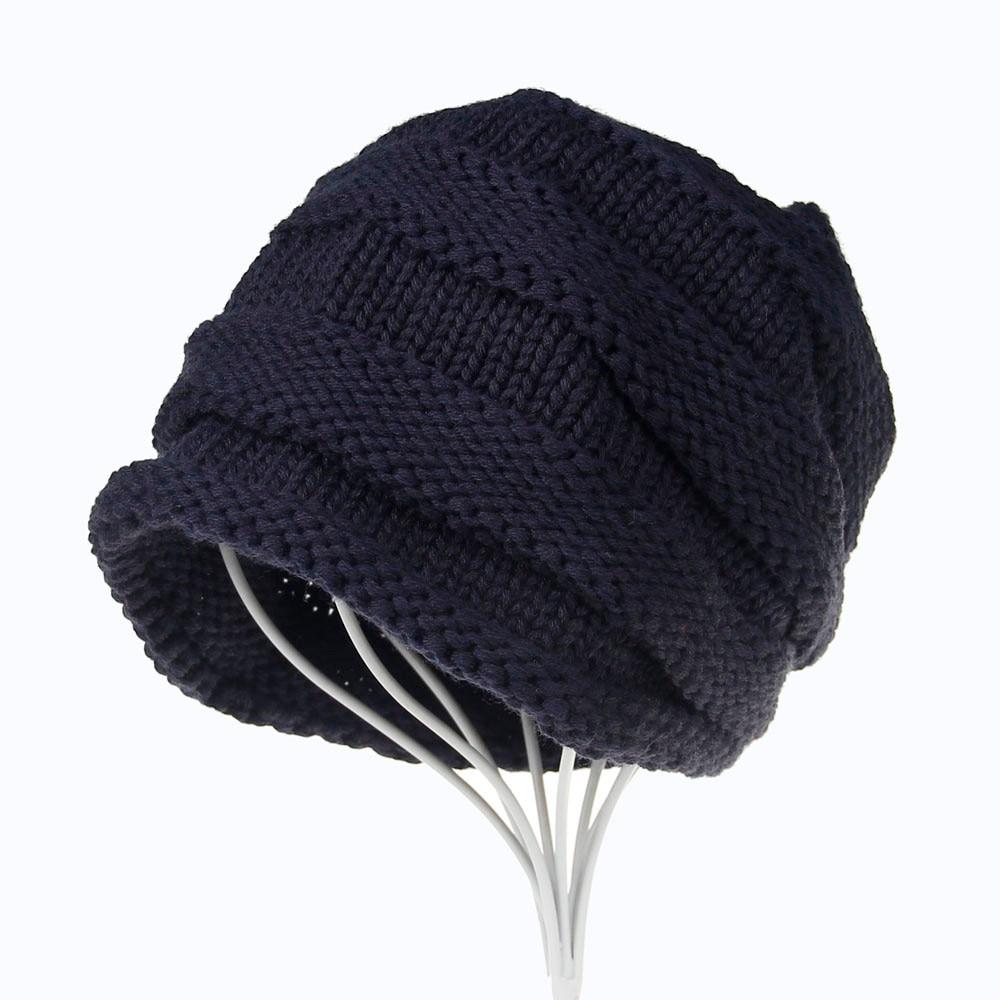 Crochet Beanies For Men Winter Brand Female Hats Men Women Baggy Warm Crochet Winter Wo Knit