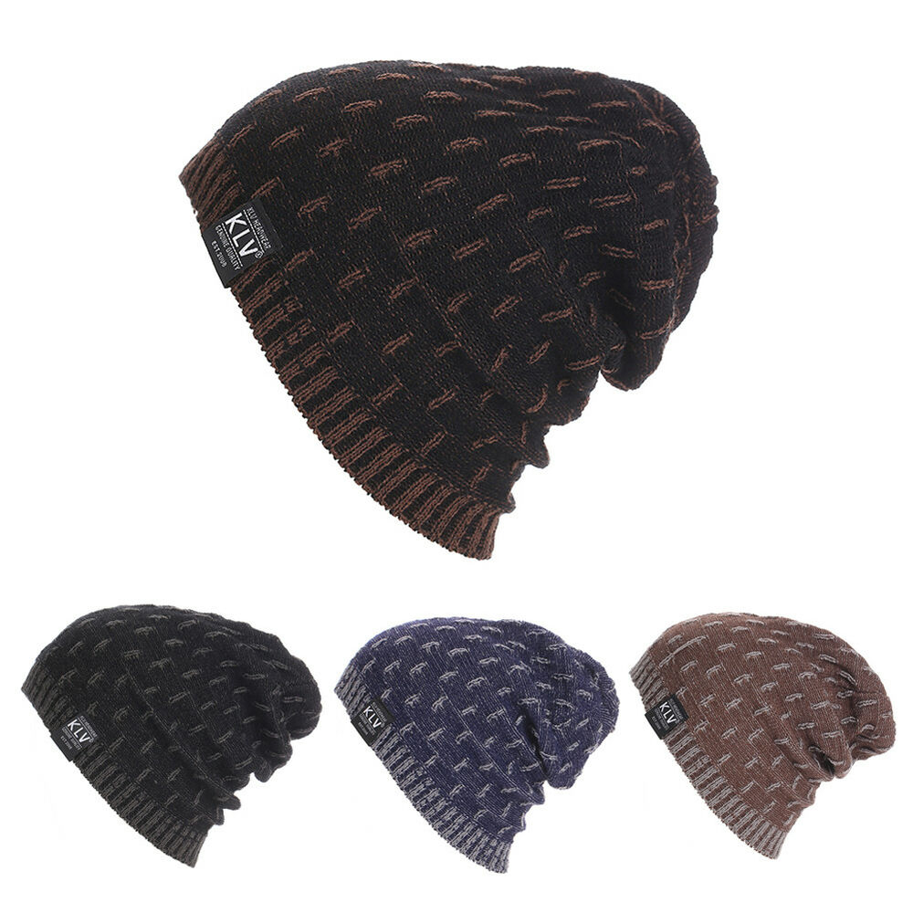 Crochet Beanies For Men Winter Hat Casual Unsex Knitted Hats For Men Baggy Beanie Hat