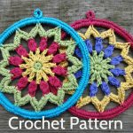 Crochet Dreamcatchers Free Patterns Pdf Crochet Pattern Evelyns Mandala 6 Inch Etsy