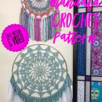 Crochet Dreamcatchers Free Patterns Serene Mandala Wall Hanging And Dreamcatcher Free Crochet Pattern