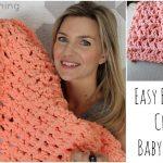 Crochet For Beginners Easy Beginner Crochet Ba Blanket Tutorial Youtube