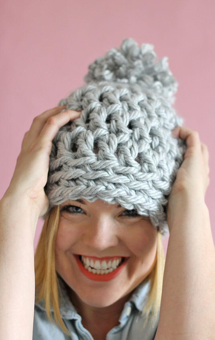 Crochet Hat Patterns 30 Minute Easy Chunky Crochet Beanie Persia Lou