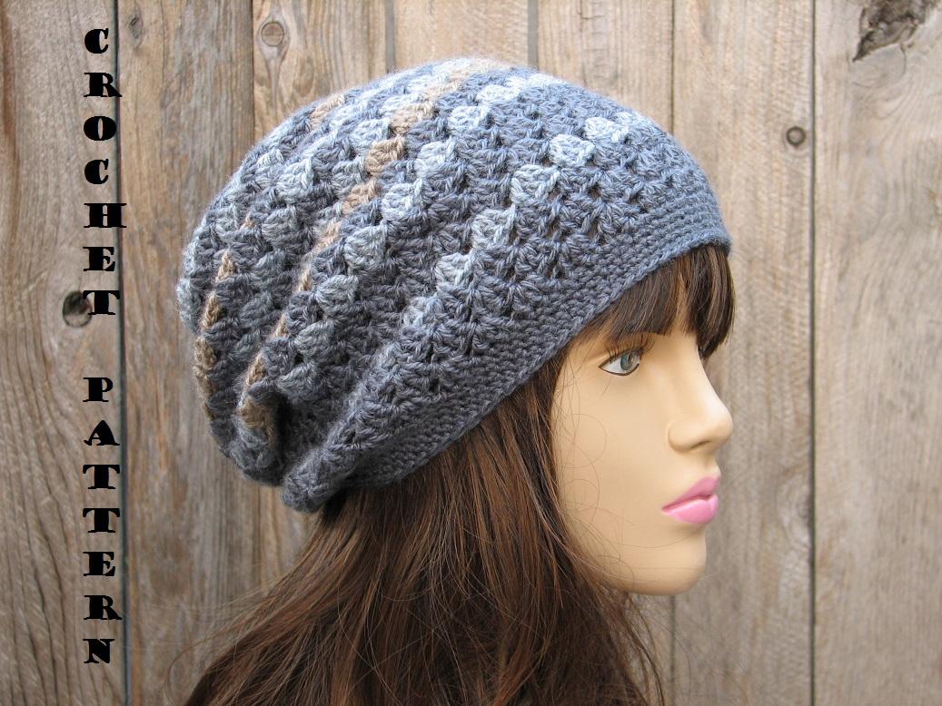 Crochet Hat Patterns Crochet Hat Slouchy Hat Crochet Pattern Pdfeasy Great For