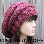 Crochet Hat Patterns Crochet Pattern Crochet Hat Slouchy Hat Crochet Pattern Pdf