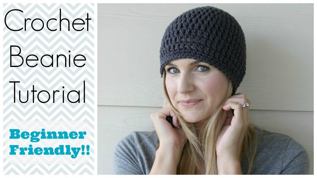 Crochet Hat Patterns How To Crochet A Beanie Tutorial Beginner Friendly Youtube