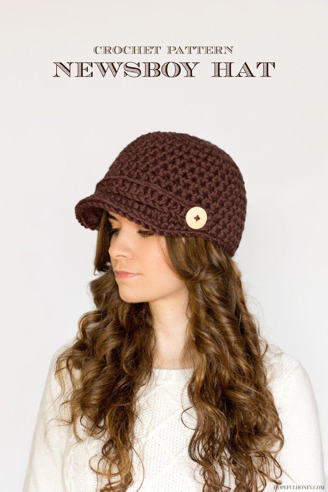 Crochet Hat Patterns Nifty Newsboy Hat Crochet Pattern Crochet Crochet Hats Crochet