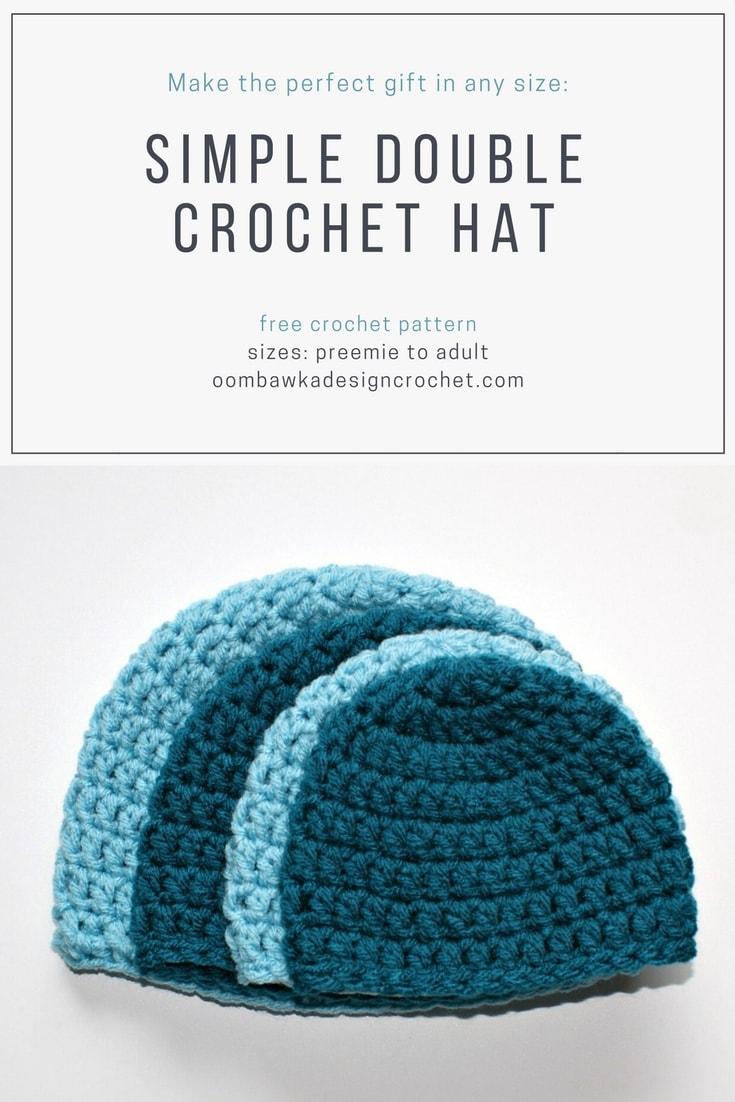 Crochet Hat Patterns Simple Double Crochet Hat Pattern Oombawka Design Crochet