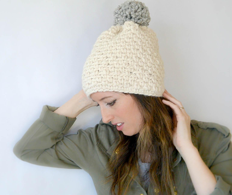 Crochet Hat Patterns Ski Lodge Chunky Crochet Pom Hat Pattern Mama In A Stitch