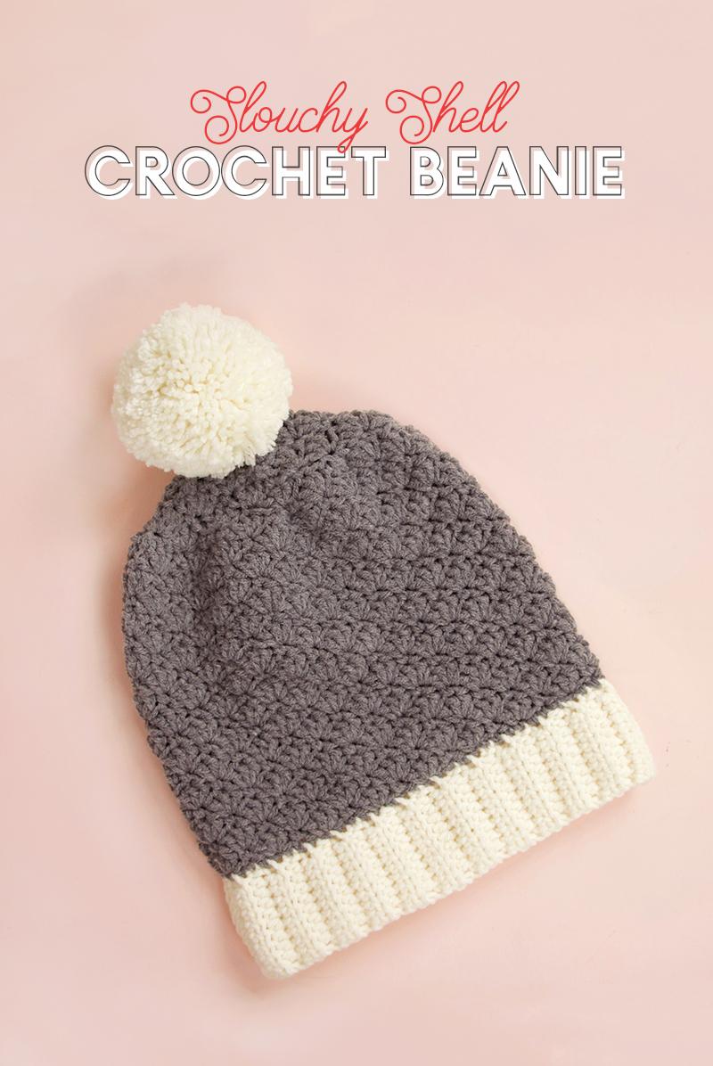 Crochet Hat Patterns Slouchy Shell Crochet Hat Pattern Free Crochet Beanie Pattern