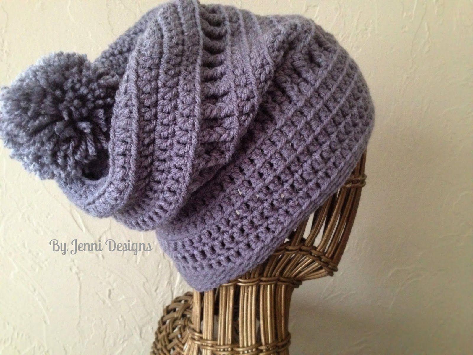 Crochet Hat Patterns Slouchy Textured Beanie Pattern Jenni Catavu Crafts Crochet