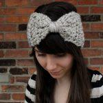 Crochet Headwarmer Free Pattern Crochet Pattern Bow Ear Warmer Headband Crochet Ear Warmer Etsy
