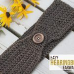 Crochet Headwarmer Free Pattern Easy Herringbone Earwarmer Crochet Crochet Crochet Patterns