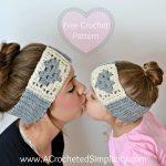 Crochet Headwarmer Free Pattern Free Crochet Pattern Granny Heart Headwarmer A Crocheted Simplicity