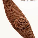 Crochet Headwarmer Free Pattern Knit Ear Warmer Pattern With Flower Crochet Ashlee Marie Real