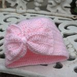 Crochet Infant Hat Patterns Ba Turban Hat With A Bow Mad Hooker Crochet