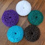 Crochet Kitchen Scrubbies Set Of 3 Crochet Scrubbies Plastic Pot Scrubbers Dish Etsy