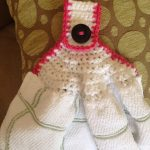 Crochet Kitchen Towel Toppers Attractive Crochet Kitchen Towel Pattern Within Tea Towel Topper I