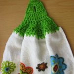 Crochet Kitchen Towel Toppers Crochet And Other Stuff Free Pattern And Stitch Tutorial No Sew