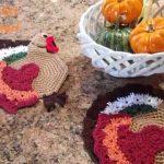 Crochet Kitchen Towel Toppers Crochet Turkey Hotpad Potholder And Kitchen Towel Topper Diy Tutorial