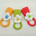 Crochet Kitchen Towel Toppers Daisy Towel Holderfun And Easy To Make Free Crochet Pattern