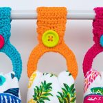 Crochet Kitchen Towel Toppers How To Crochet A Hanging Ring Towel Holder Easy Toppers For