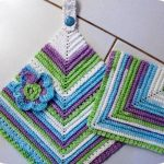 Crochet Kitchen Towel Toppers Simply Crochet And Other Crafts Towel Toppers Intended For Crochet