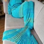 Crochet Mermaid Tail Pattern Crochet Stripe Pattern Mermaid Tail Shape Blanket 2178 Free