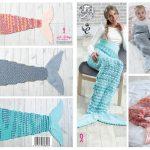 Crochet Mermaid Tail Pattern Mermaid Tail Blankets Crochet Pattern Ba To Adult Sizes King Cole