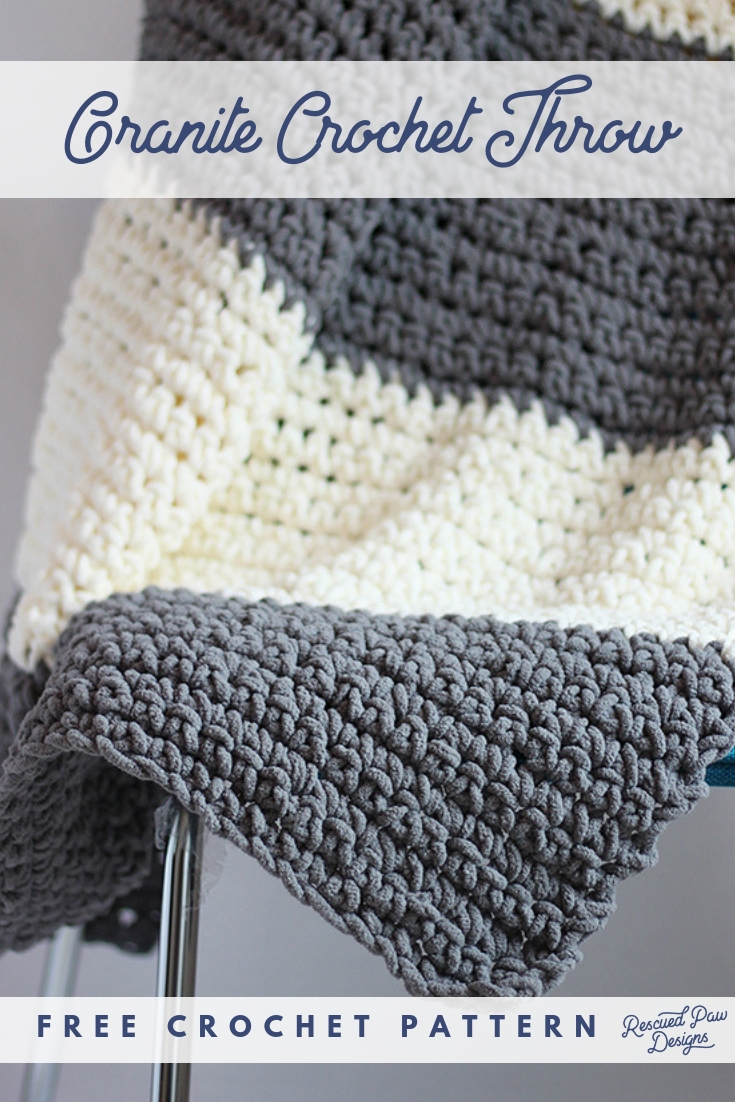 Crochet Patterns Free Granite Crochet Throw Blanket Pattern Easy Crocheted Throw