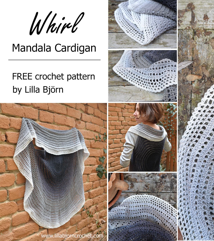 Crochet Patterns Free Whirl Mandala Cardigan Free Crochet Pattern Lillabjrns Crochet