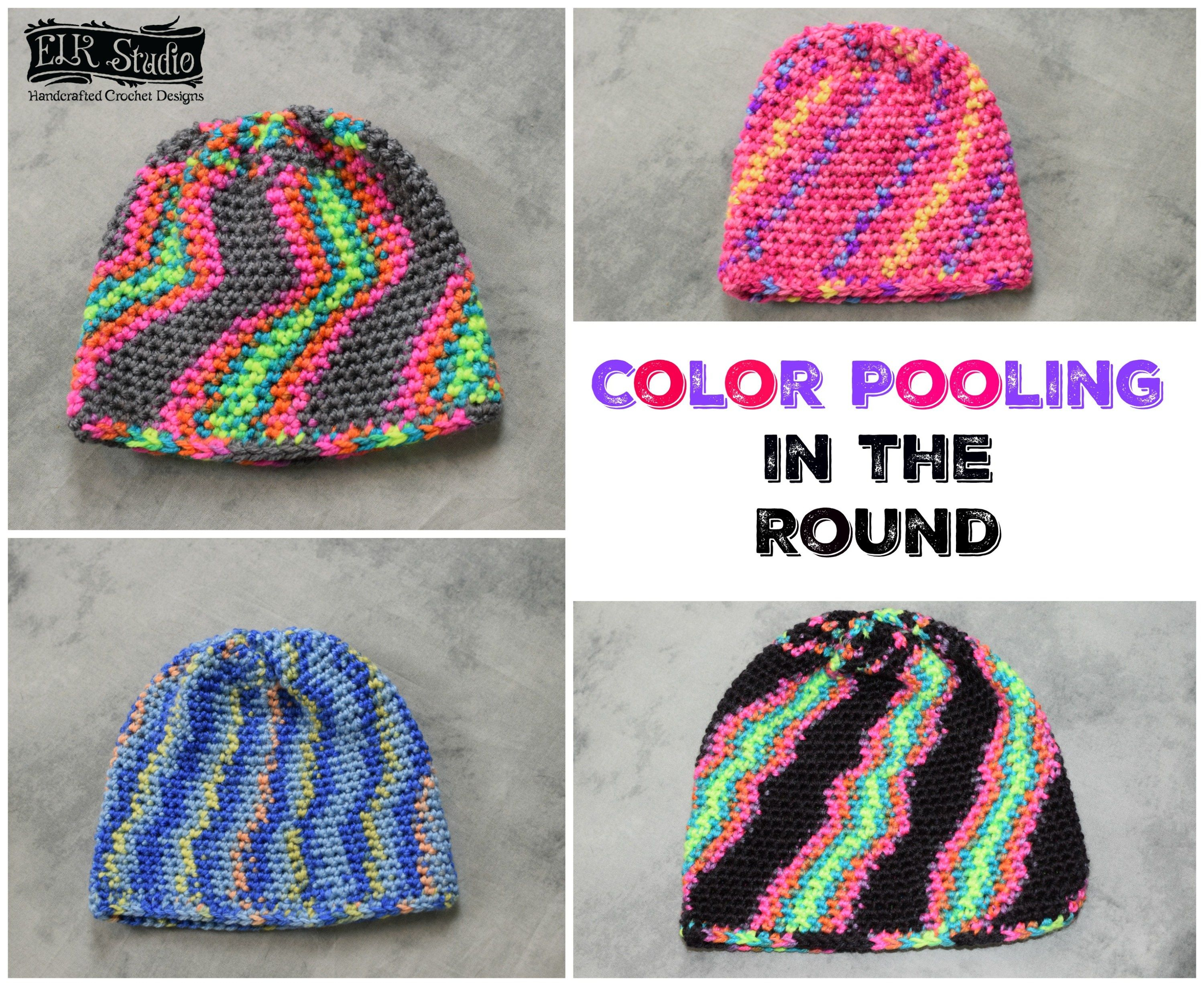 Crochet Pooling Free Pattern Color Pooling While Working In The Round Elk Studio Crochet