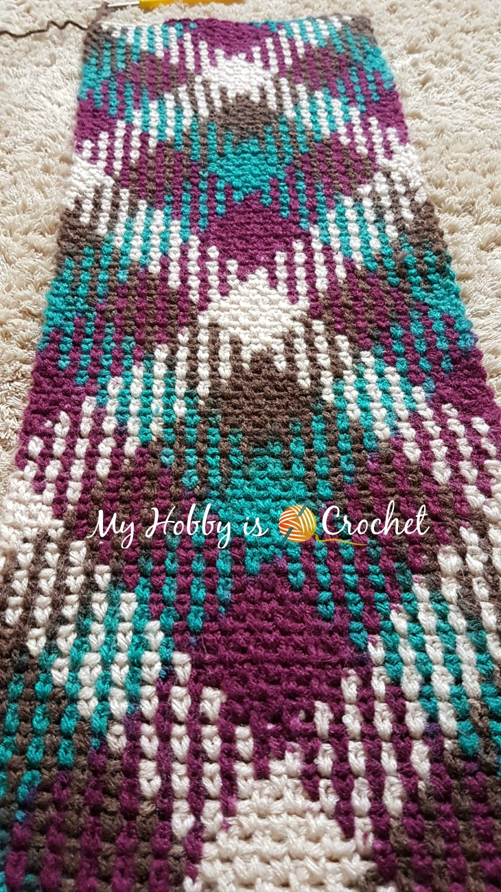 Crochet Pooling Free Pattern My Hob Is Crochet Argyle With A Twist Infinity Scarf Free