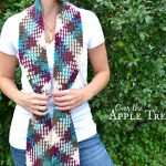 Crochet Pooling Free Pattern Over The Apple Tree Crochet Scarf Color Pooling