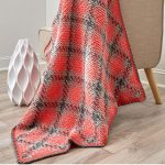 Crochet Pooling Free Pattern Planned Pooling Argyle Throw Or Blanket Free Crochet Pattern In Red