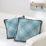 Crochet Pooling Free Pattern Red Heart Yarns On Twitter Planned Pooling Argyle Pillow Free