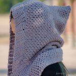 Crochet Scoodie Pattern Chloe Hooded Pockets Scarf Free Crochet Pattern