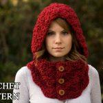 Crochet Scoodie Pattern Crochet Pattern Hooded Cowl Button Neck Warmer Crochet Etsy