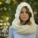 Crochet Scoodie Pattern Crochet Pattern Hooded Scarf Pattern Crochet Scoodie Instant Etsy