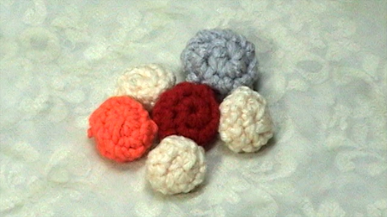 Crochet Sphere How To Make Learn How To Crochet Little Ball Tutorial Youtube