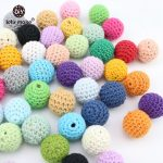 Crochet Sphere How To Make Lets Make Crochet Balls 26 Color Available Wooden Cotton Beads