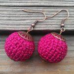 Crochet Sphere How To Make Life In Colour Crochet Red Ball Earrings