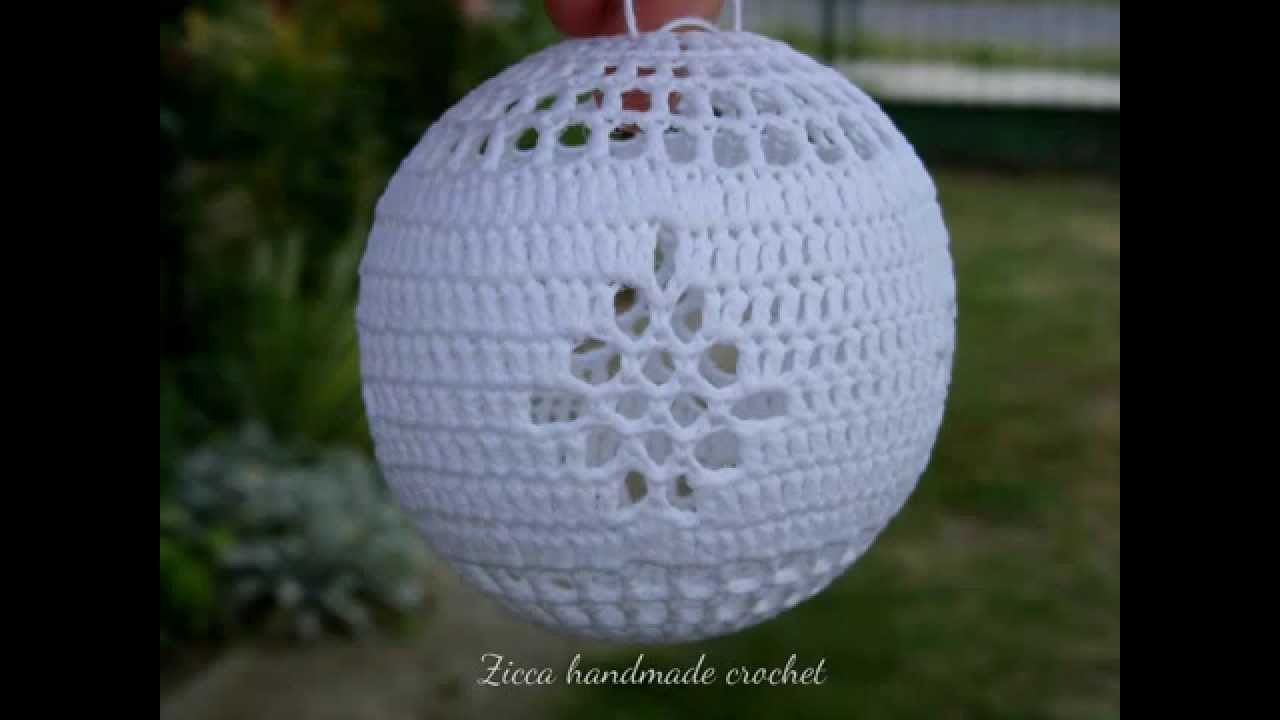 Crochet Sphere Pattern Free Beautiful Crochet Christmas Ball Ornaments Youtube