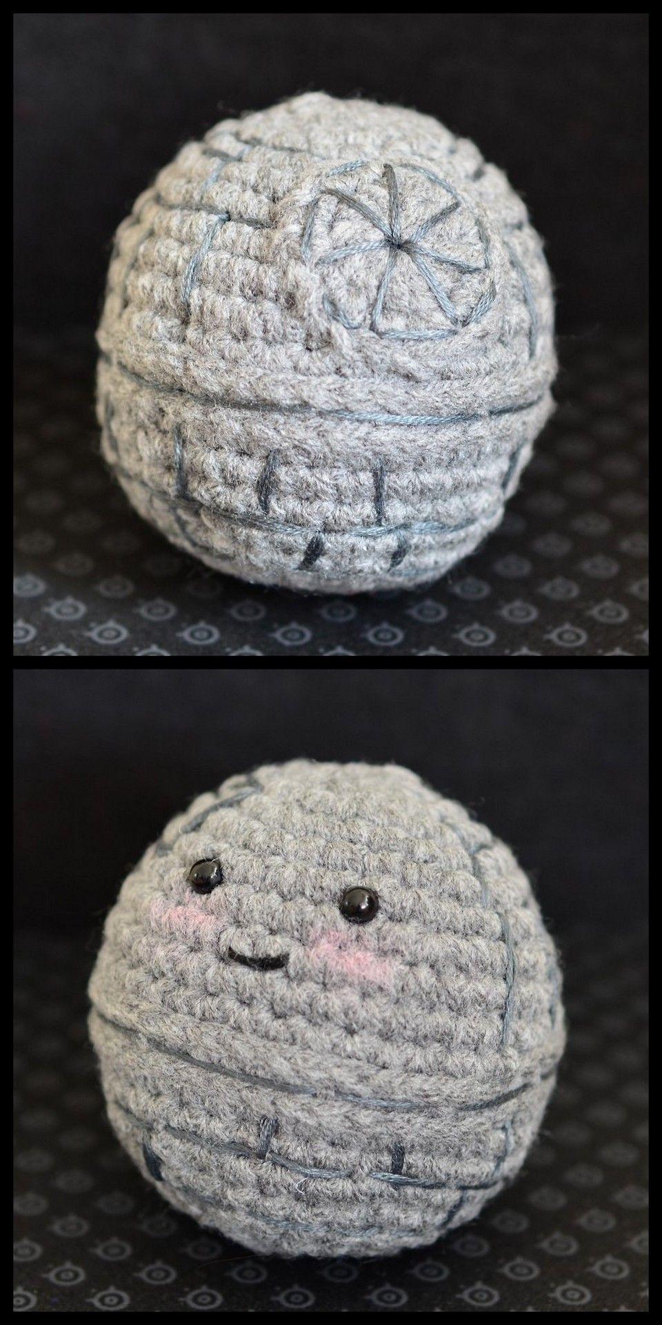 Crochet Sphere Pattern Free Diy Crochet Mini Cute Death Star Free Pattern From Pops De Milk In