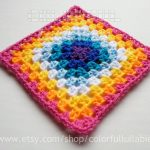Crochet Sphere Pattern Free Half Double Crochet Granny Square Chart Pattern No 6 Of The Etsy